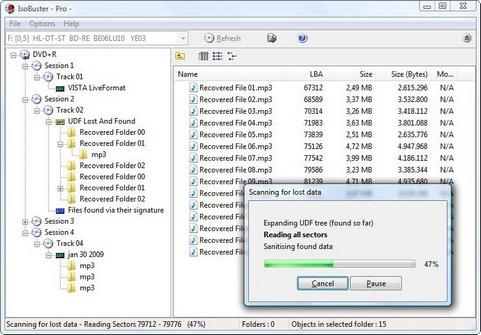 gratis herstel software van IsoBuster