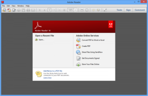 De adobe reader software kun je online gratis downloaden op de website van Adobe