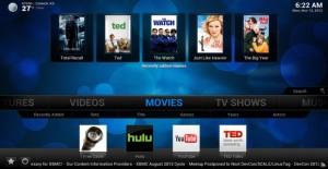 XBMC interface voor het beheren van al je media downloads