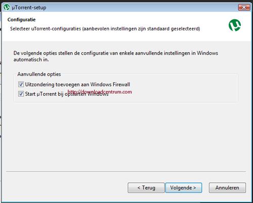 Meer installatie opties voor uTorrent