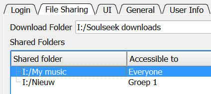 groepen selecteren