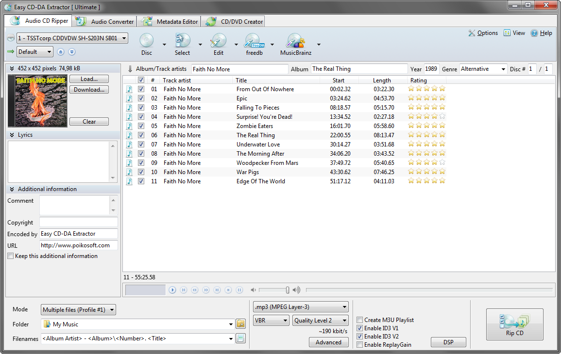 gratis software downloaden Easy CD-DA Creator