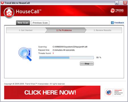 gratis online virusscanner - housecall