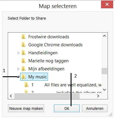 map selecteren
