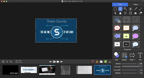 Een schermafbeelding van SnagIt.