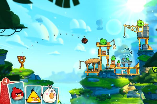 Angry Birds 2 heeft prachtige graphics en nieuwe vogels.