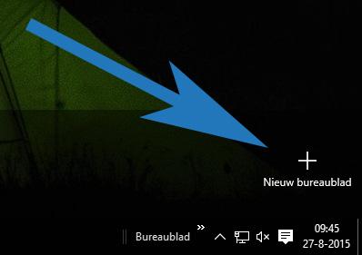 Een nieuw bureaublad toevoegen in Windows 10