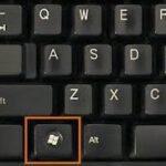De Windows sneltoets zoals deze er op veel toetsenborden uitziet.