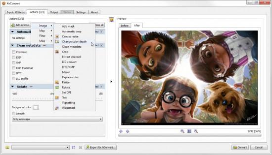 XnConvert biedt vele mogelijkheden voor het bewerken van afbeeldingen.