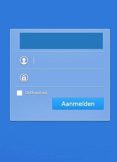 Inloggen op je Synology NAS met je naam en wachtwoord (hoofdlettergevoelig!)