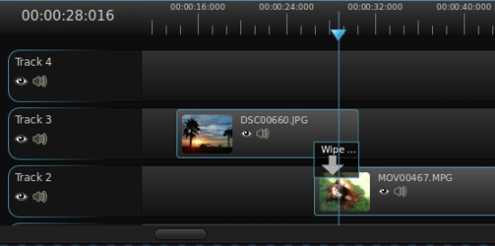 OpenShot Video editor werkt met een handige tijdlijn voor het bewerken van video.