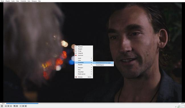Een SRT bestand openen met de VLC mediaspeler.