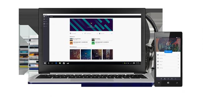 Deezer biedt een speciale Windows 10 applicatie met extra mogelijkheden.