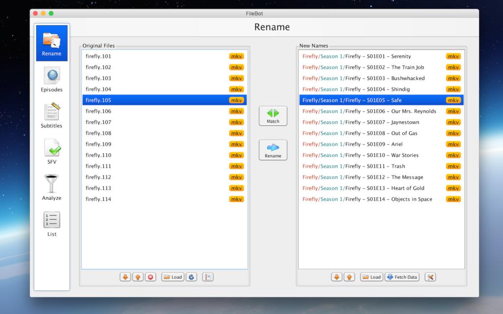 Met FileBot is het beheren van je muziek en film collectie erg makkelijk.