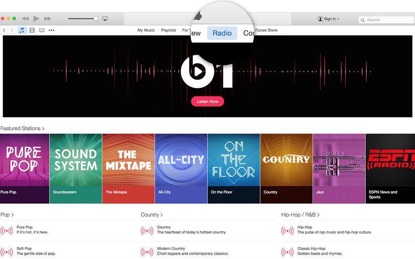 Apple Music biedt zelfs online radiostations.