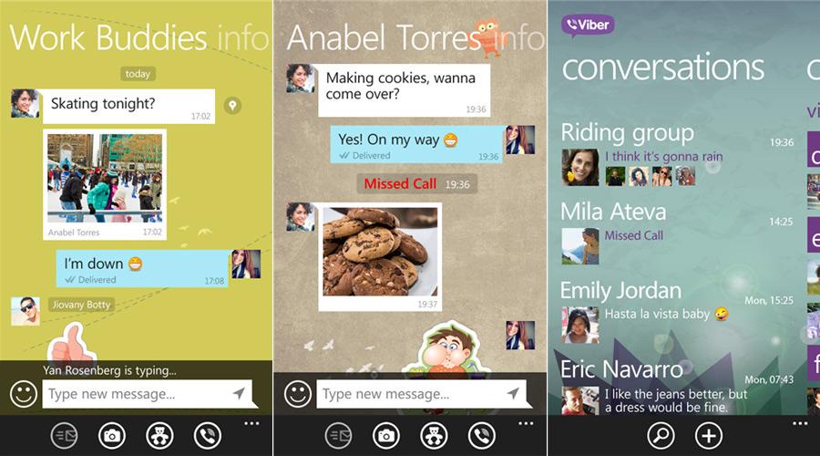 Met Viber kun je makkelijk chatten.