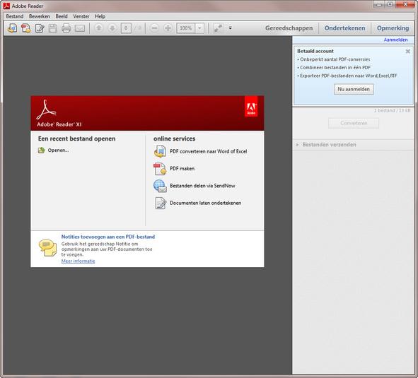 Adobe Reader is verreweg het populairste programma voor het lezen van een PDF.