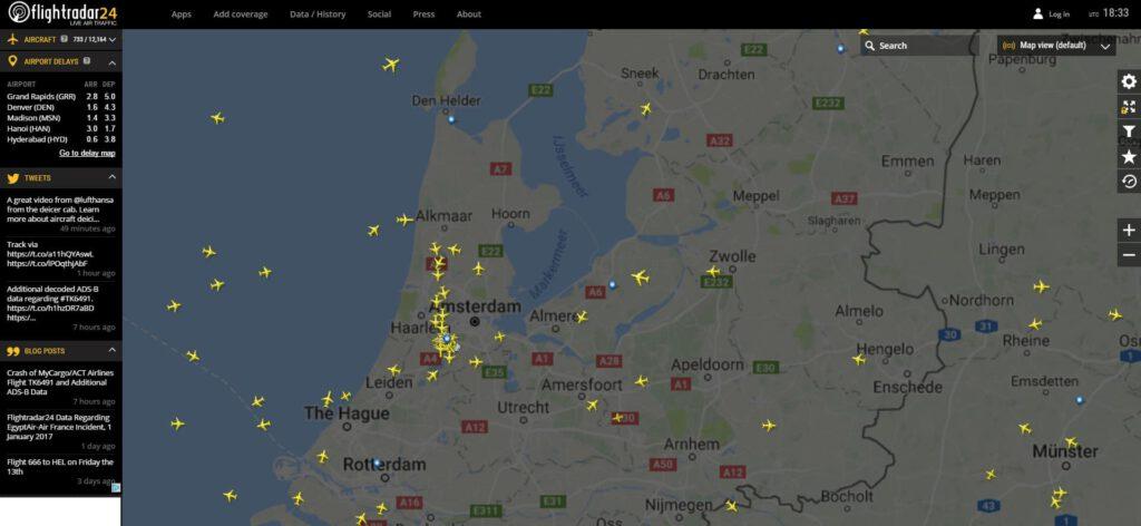 FlightRadar24 biedt een compleet overzicht van de luchtvaart op een willekeurige plek op aarde. Ook op Windows 10.