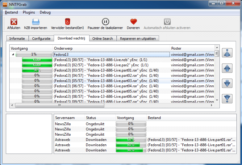 NNTPGrab heeft een Nederlandstalige interface.