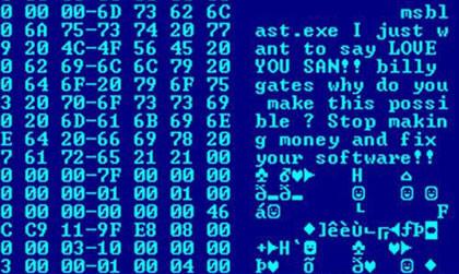 Een virus bestaat uit programmacode.