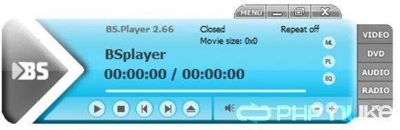 Via het startscherm van BS.Player kun je eenvoudig muziekbestanden openen.