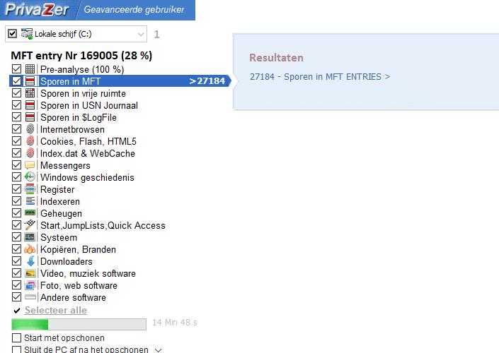 PrivaZer scant je  hele pc op overbodige bestanden.