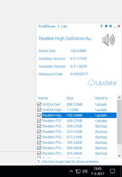 Op mijn computer staan best veel verouderde drivers zoals je in deze schermafbeelding ziet.