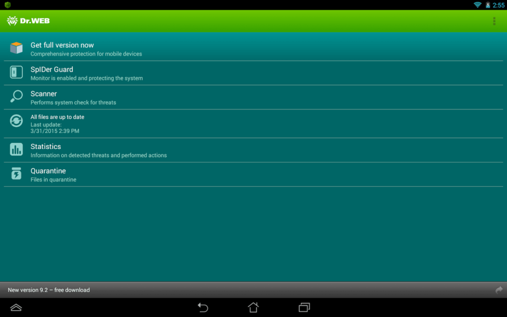 Dr. Web is ook beschikbaar   als anti-virus tool voor Android en iOS.