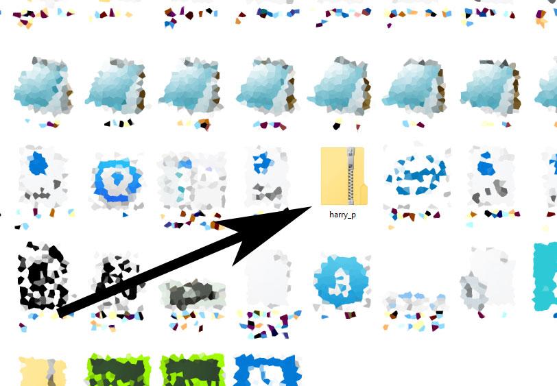 Een zip-bestand herken je in Windows 10 aan dit icoon.