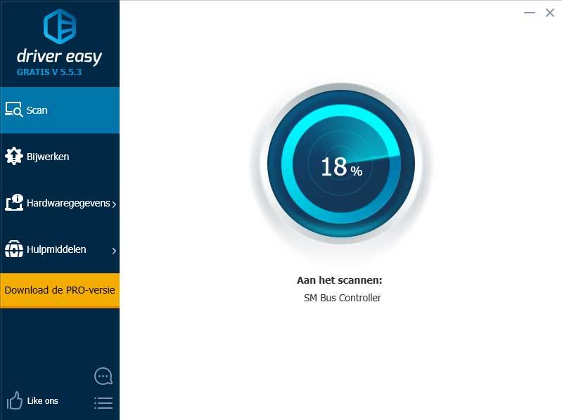 Driver Easy scant je computer en toont welke drivers een update nodig hebben.