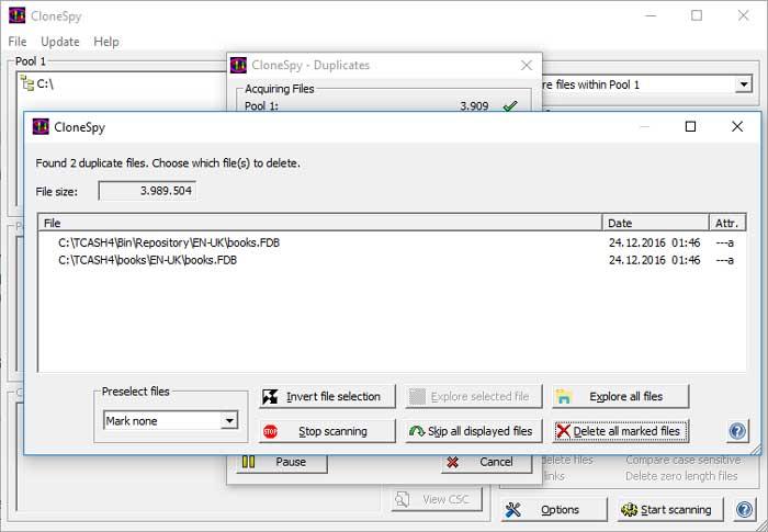 Je HDD of SSD scannen op dubbele bestanden.