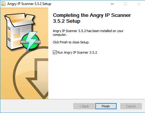 De installatie van Angry IP Scanner is eenvoudig.