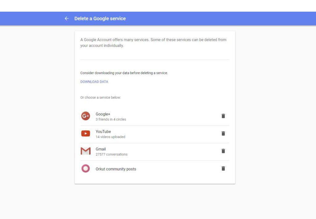 Bevestig in dit scherm de opheffing van je gmail e-mail account.