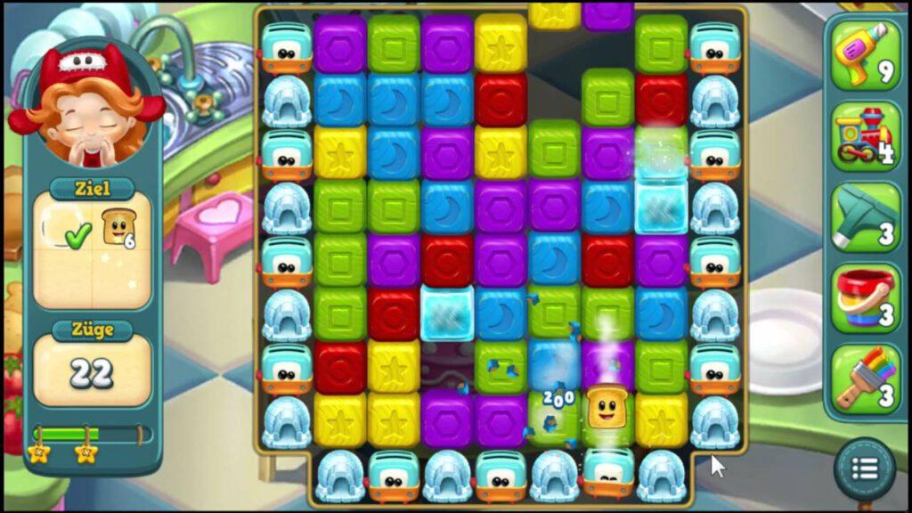 Toyblast is een kleurrijke game met een aantrekkelijke interface.