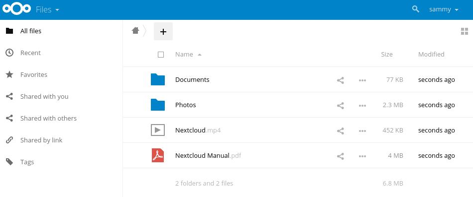 Is NextCloud eenmaal opgezet dan is de tool eenvoudig te gebruiken door de heldere interface.