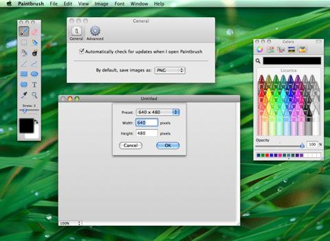 De interface van Paintbrush ziet er gelikt uit.