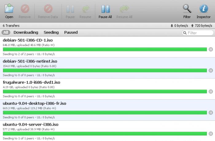Je kunt met Transmission eenvoudig nieuwe software downloaden.