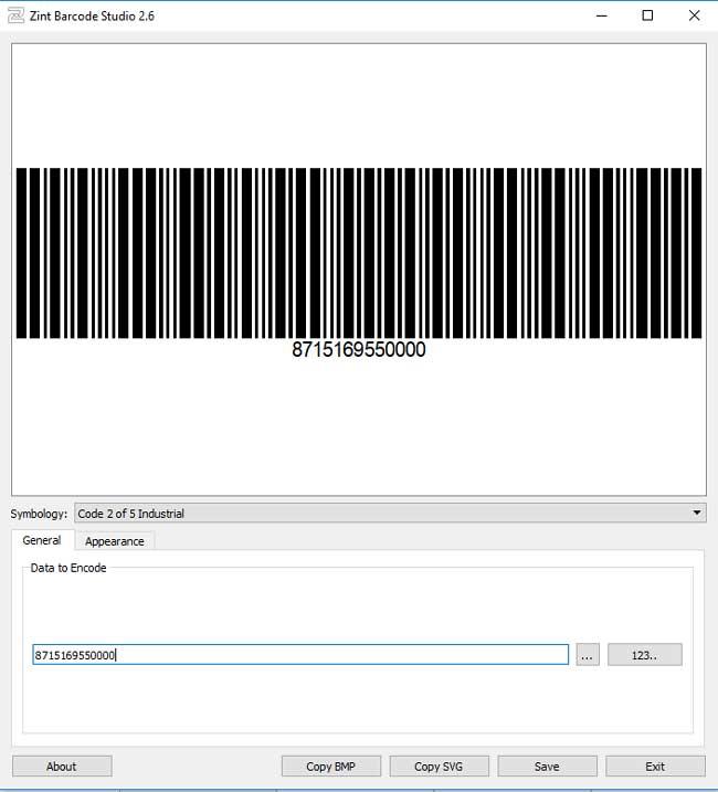 Je kunt met Zint eenvoudig een numerieke of alfanumeriek code intypen en deze om laten zetten tot barcode.