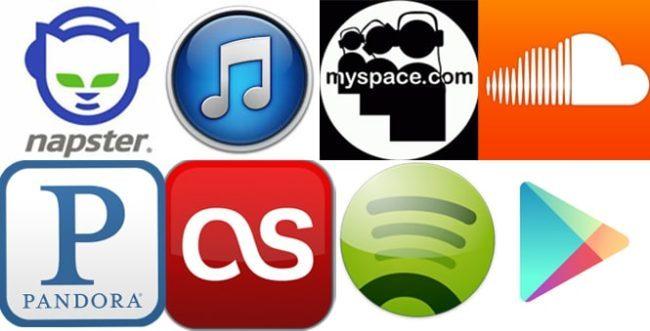 Een aantal downloadprogramma's voor het streamen of downloaden van muziek.