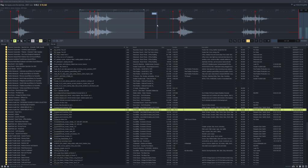 De interface van Resonic Player biedt veel mogelijkheden.
