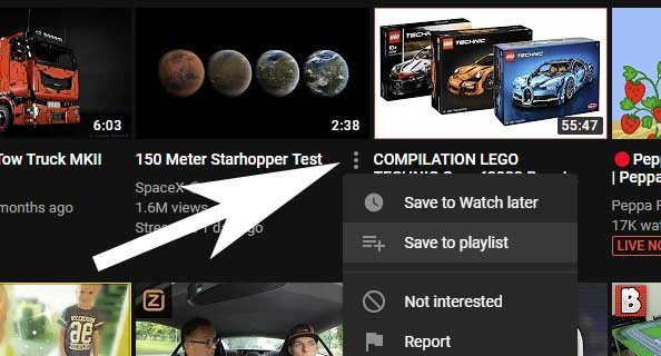 Overzichtspagina Youtube