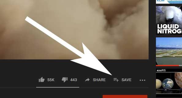 Youtube schermafbeelding (video toevoegen aan afspeellijst).